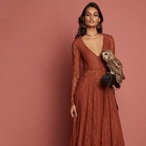 NEW Free People Guinevere Lace Maxi Dress Sz Small